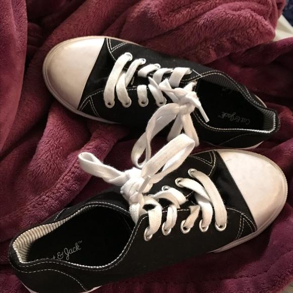 e191b8d325caf Cat & Jack Shoes | Girls 2 Cat Jack Black Sneakers Worn Twice | Poshmark